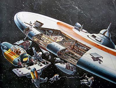 German Futurist Klaus Bürgle - 1963 Space Station
