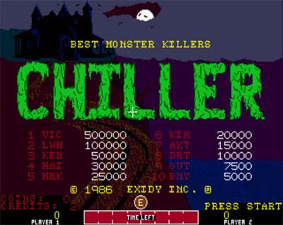 Chiller - 1986 - Exidy Inc.