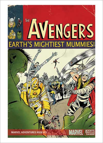 Marvel mummies attack manhattan!