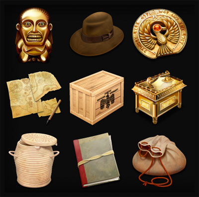 Check out these cool official Indiana Jones desktop icons designed by