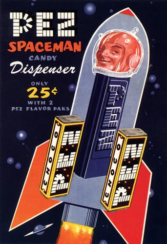 PEZ Spaceman Candy Dispenser Poster