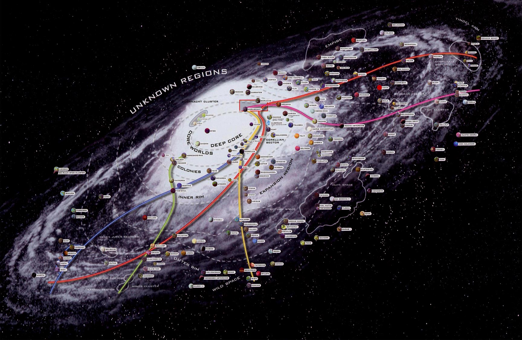 Star Wars Galaxy Map » Fanboy.com