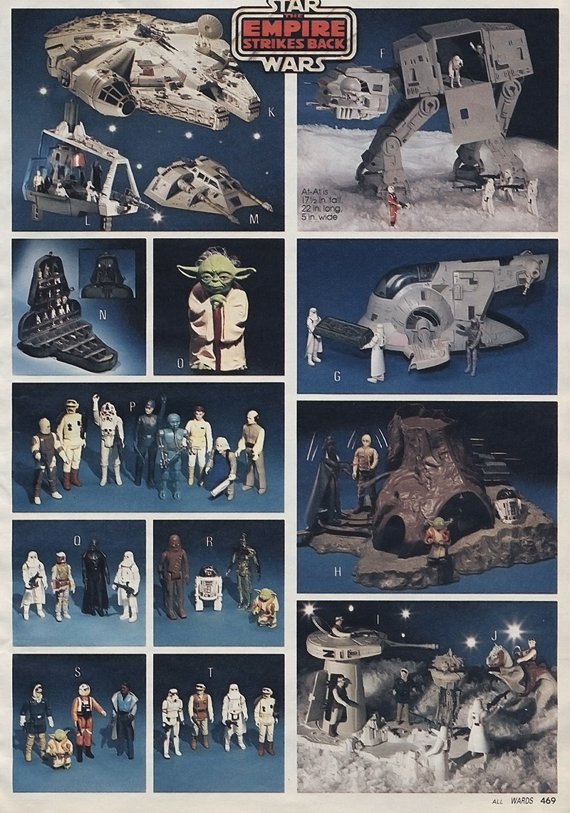Empire strikes back christmas toys from 1981