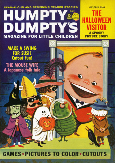 Cover to Humpty Dumpty's magazine, October 1964. Illustrated by Dan Lawler.