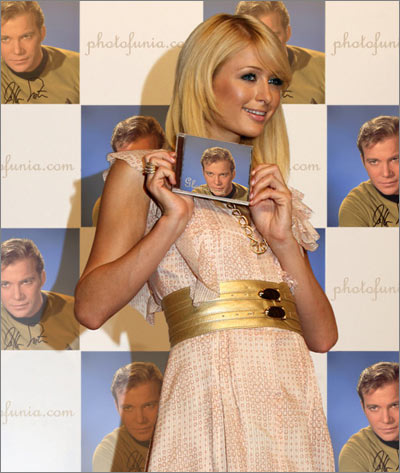 Williams Shatner with a PhotoFunia Treatment: Paris Hilton