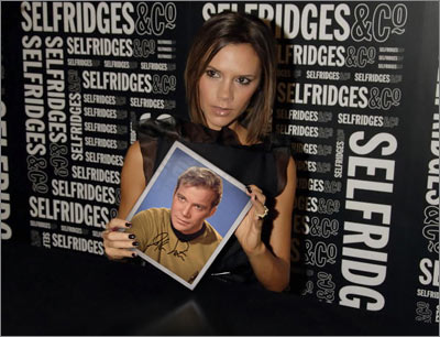 Williams Shatner with a PhotoFunia Treatment: Posh Spice