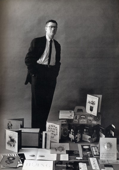 Photograph of Lou Dorfsman from Interiors Magazine in 1955.