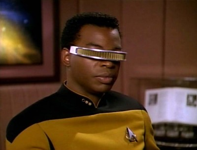 Geordi La Forge: From the television series Star Trek: The Next Generation, played by LeVar Burton