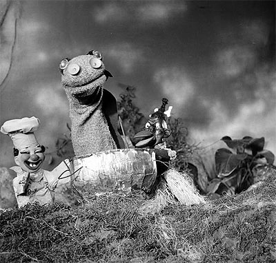 Beany & Cecil TV Show Puppets - April 04, 1950 - Photo by Allan Grant