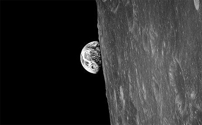 1968: The first Earthrise to be witnessed by a human