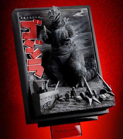 Godzilla 1954 3-D Polyresin Poster Art