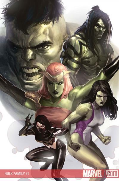 Hulk Family #1: Cover Illustration by Marko Djurdjevic