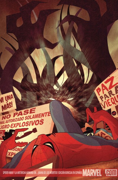 Spiderman & The Human Torch in...!Bahia De Los Muertos! - Cover Illustration by Jaun Doe