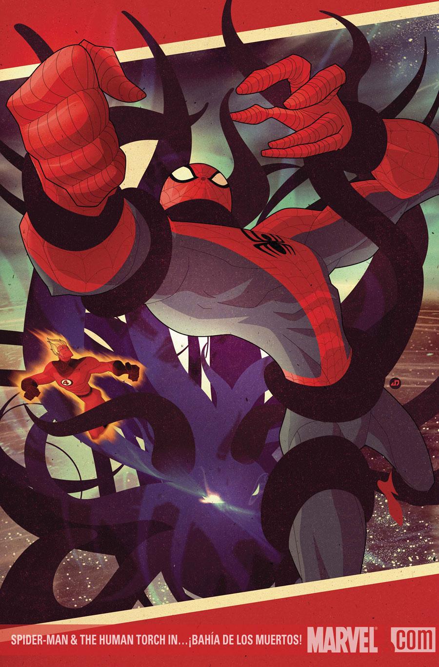 duo jaun doe covers spiderman the torch in bahia de los muertos spiderman the human torch in bahia de los muertos
