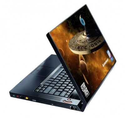 The Star Trek Lenovo IdeaPad Y530 that's customized for the Exploration Sweepstakes
