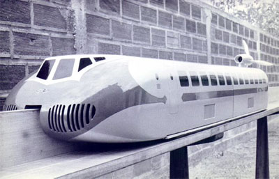 Concept model of the Aérotrain created from 1962 - 1963.