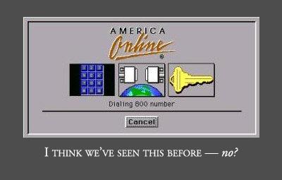 Screen shot from AOL 1.0