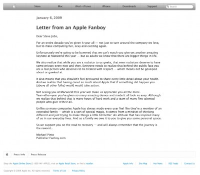 Letter from an Apple Fanboy