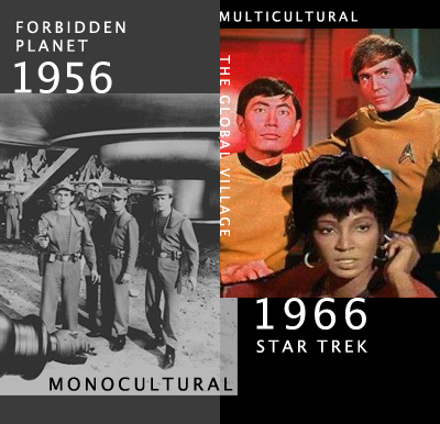 Monocultural Sci Fi vs Multicultural Sci Fi: Forbidden Planet in 1956 vs. Star Trek in 1966