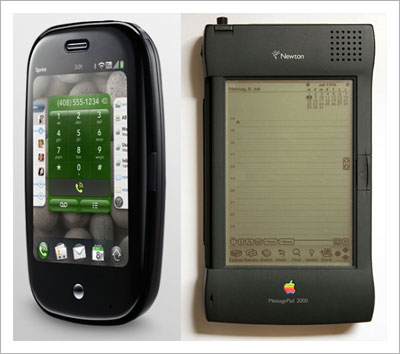The Palm Pre and the Apple Newton