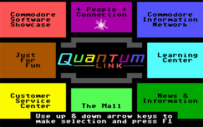 Quantum Link for the C64 in the mid-80s