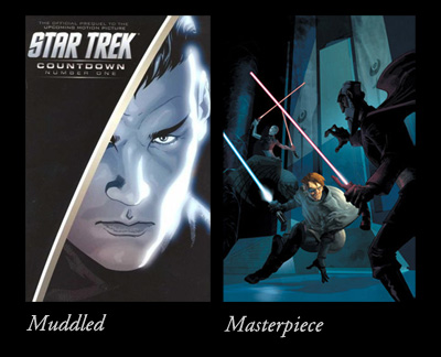 Star Trek: Countdown's first issue vs. Star Wars: The Clone Wars #5
