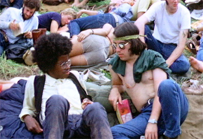 Two hippies at the Woodstock Festival, Aug. 1969 photographed by Derek Redmond and Paul Campbell
