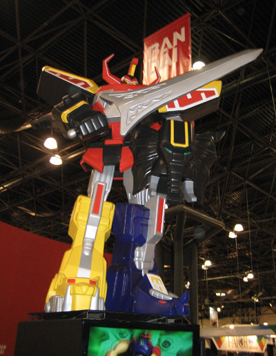 Bandai: Toy Fair 2009 - An Impressive Power Rangers Robot Display!
