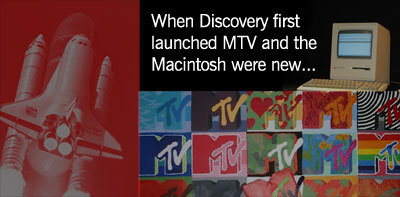 When the space shuttle Discovery first launched MTV and the Macintosh were new.