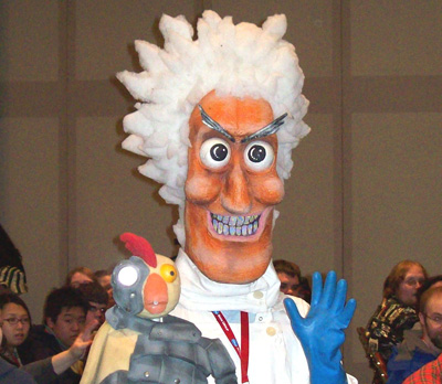 Robot Chicken Mad Scientist Cosplay at NYCC 2008