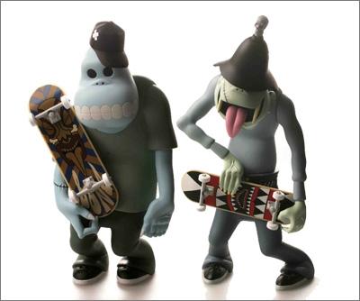Zombie Skateboarders designed by Tsuchiya Shobu