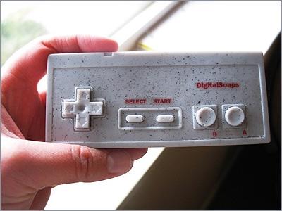 NES Nintendo game controller, cocoa butter
