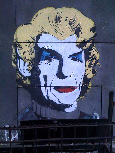 Spock Stenciled Street Art: Spotted at Kenmare and Mott in NYC, the artist may be Nick Walker