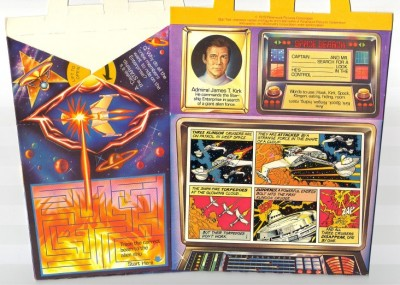Star Trek McDonalds Happy Meal comic strips: 1979 Box features: Kirk, Klingons, Klingon cruisers are destroyed by an energy burst from a giant cloud.