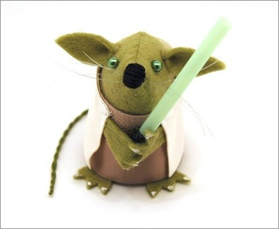 Star Wars Mice from the House of Mouse on Etsy: Yoda Mouse
