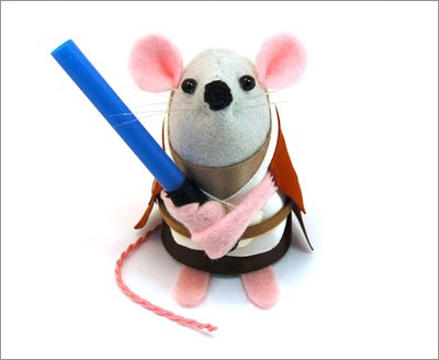 Star Wars Mice from the House of Mouse on Etsy: Obiwan Kenobi Mouse