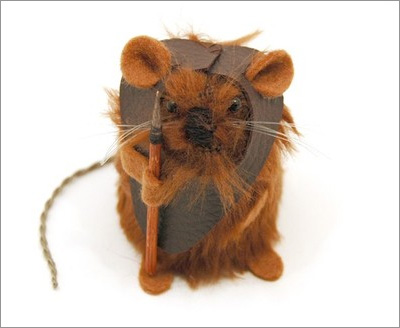 Star Wars Mice from the House of Mouse on Etsy: Ewok Mouse