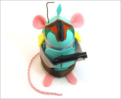 Star Wars Mice from the House of Mouse on Etsy: Boba Fett Mouse