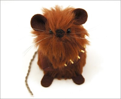 Star Wars Mice from the House of Mouse on Etsy: Chewbacca Mouse
