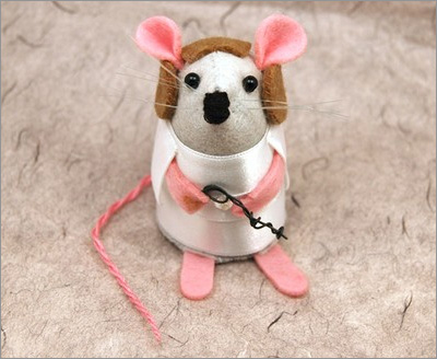 Star Wars Mice from the House of Mouse on Etsy: Princess Leia Mouse