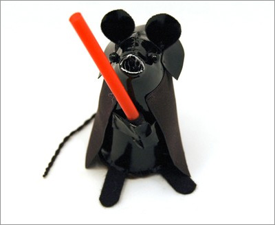 Star Wars Mice from the House of Mouse on Etsy: Darth Vader Mouse