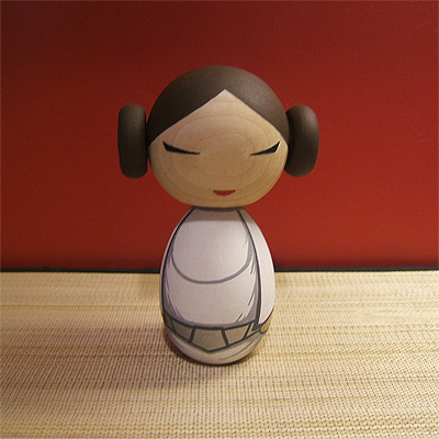 Kokeshi Doll: Princess Leia
