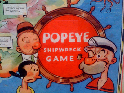 Popeye Shipwreck Game from 1933