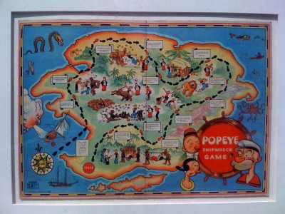 Popeye Shipwreck Game from 1933 - full view