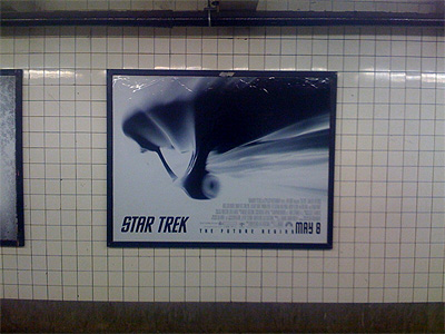 Star Trek XI poster in the NYC subway system