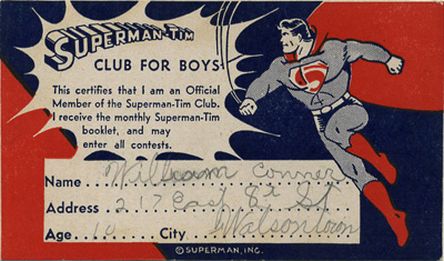 Superman-Tim Membership Card Front