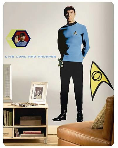 Star Trek Spock Peel and Stick Giant Wall Applique