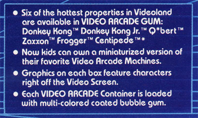 Topps - Video Arcade Gum candy ad sell sheet - 1983 (features!)
