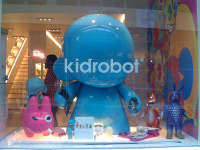 kidrobot store nyc at 118 Prince Street