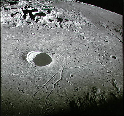 Apollo 10 northwestward view of Triesnecker crater
